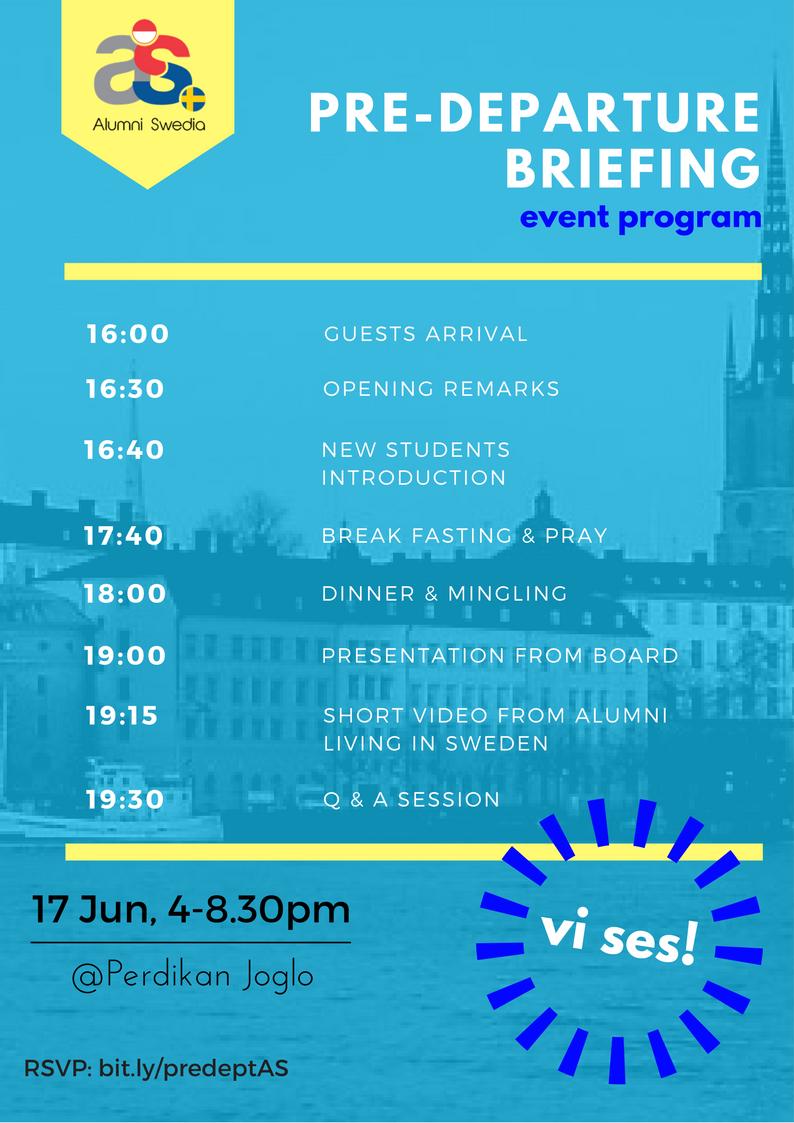 PreDeparture Briefing Event Program – Event Program